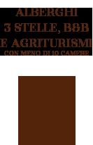 Alberghi 3 stelle, B&B e Agriturismi con più di 10 Camere