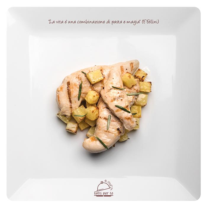 Filetto di Pollo con Patate Grigliate