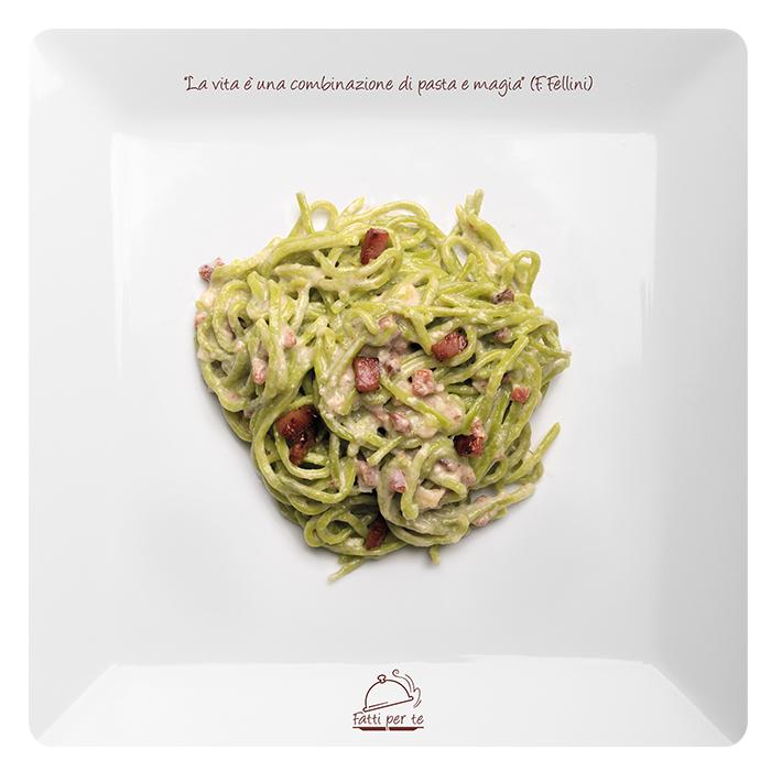 Tagliolini Verdi Speck e Gorgonzola